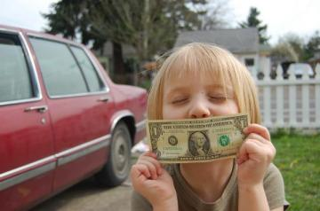 Kissing money goodbye!